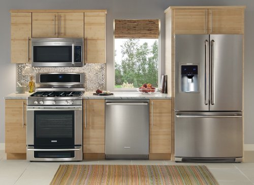 NEW Electrolux Stainless Steel 4 Piece Appliance Package with French Door Refrigerator #11