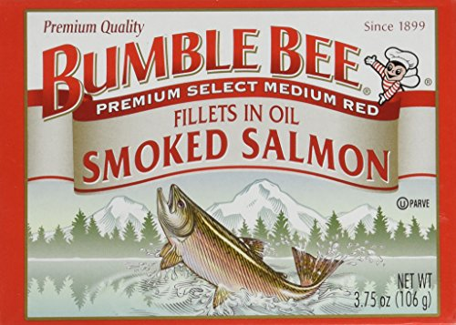Bumble Bee Smoked Salmon Fillets in Oil 3.75oz can (Pack of 6) (Bumble Bee Canned Salmon compare prices)