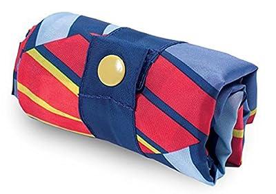 LOQI Geometric Cube Reusable Shopping Bag, Multicolor