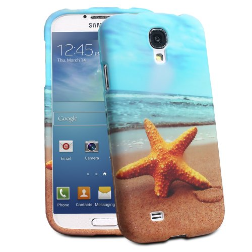 $$  Fosmon MATT Series Rubberized Case for Samsung Galaxy S4 IV - i9500 (Beach with Star Fish)