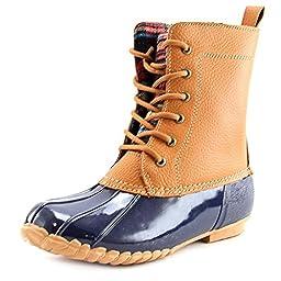 Sporto Women\'s Dede Lace-Up Waterproof Duck Boot,Navy,US 9 M
