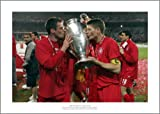 Steven Gerrard & Jamie Carragher Liverpool 2005 Champions League Final Photo Memorabilia