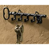 Key Shaped Key Hook Rack Antiqued Look