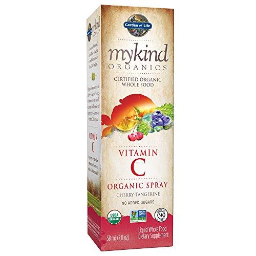 Garden of Life Mykind Organics Amla Vitamin C Spray, Cherry/Tangerine, 2 Fluid Ounce