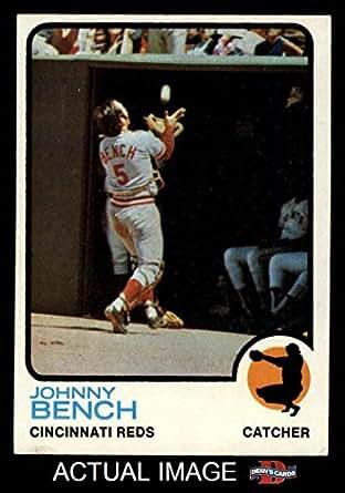 1973 Topps 380 Johnny Bench Cincinnati Reds Baseball Card Dean 39 S Cards 6 Ex Mt