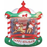 gemmy inflatable:Gemmy blow up Christmas personality Carousel