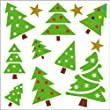 Christmas Gel Art Christmas Trees Window Decorations - Medium sized pack of 3D Printed Gels that stick to windows & mirrors etc