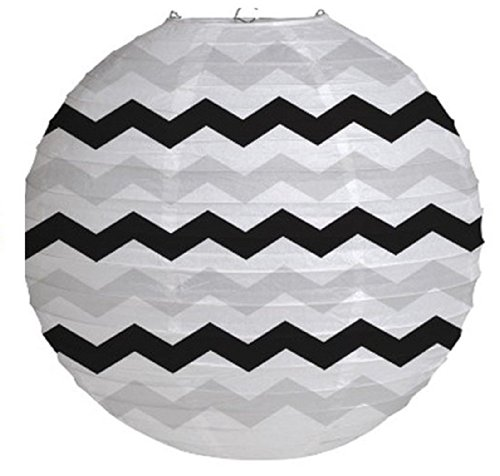 "Creative Converting 12 Count Round Lantern, 12"", Chevron Candy Pink - 1"