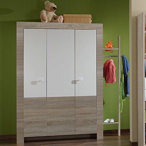 Kinderzimmer Kleiderschrank »MIRA« alpinweiß – Eiche sägerau bestellen