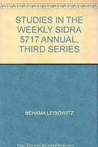 Annual of Studies in the Weekly Sidra…