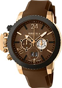 Brera Orologi - Militare - Brown / Rose Gold IP - BRML2C4804