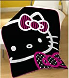 Hello Kitty Black Fleece Blanket