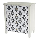 Commode Luton armoire table d'appoint chevet,66x60x33cm, motif baroque