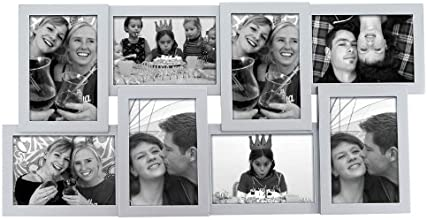 Present Time KR009SI Cadre Photo Layered Collection Bois Argent