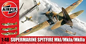 Airfix A05115A Supermarine Spitfire MkI 1:48 Scale Military Aircraft Series 5 Model Kit from Hornby
