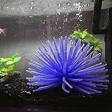 Soft Silicone Artificial Fake Underwater Coral for Fish Tank Aquarium Decoration Oranment (Blue)