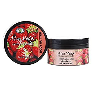 Aloe Veda Luxury Body Butter, Strawberry, 100g