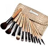 Fräulein3°8 Trousse de 12 pinceaux fard maquillage Yeux Joues cosmetique Choix Multiple