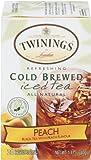 Twinings, Cold Brewed Iced Tea, Peach, 20 Tea Bags, 1.41 oz (40 g)