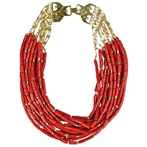 Fashion Necklace Chunky Necklace Statement Necklace Red Bubble Necklace (Fn0729)