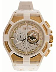 Invicta 0638 Reserve Akula Chronograph White Rubber Mens Watch