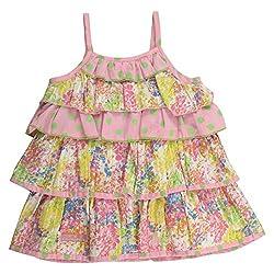 Little Kangaroos Baby-Girls Multi Colour Dress (8903208861973_Multi-Coloured_6-12 Months)