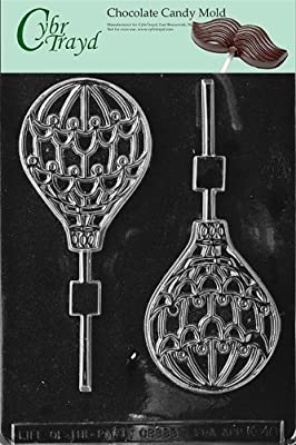 Cybrtrayd K046 Hot Air Balloon Lolly Chocolate Candy Mold with Exclusive Cybrtrayd Copyrighted Chocolate Molding Instructions