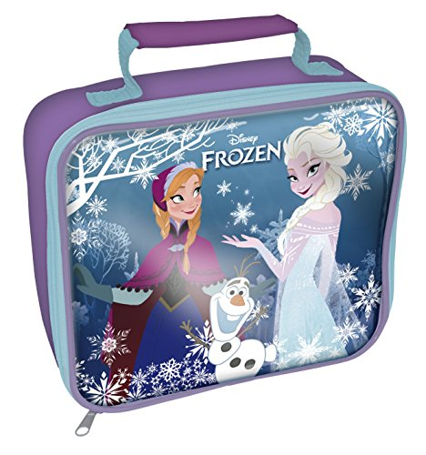 Frozen Rectangle Lunch Bag, Purple - 1