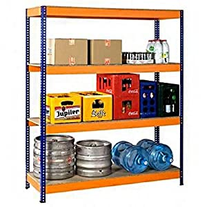 Fachbodenregal BIGFOOT 350ZR  Schwerlastregal blau / orange  BaumarktÜberprüfung und Beschreibung