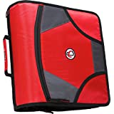 Case-it XLarge Capacity 4-Inch D-Ring Zipper Binder with 5-Tab File Folder, Red, D-186-RED by Case-It  (Aug 11, 2008)