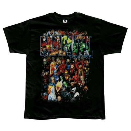 Marvel  Mens Group Shot Tshirt Xlarge Black Picture