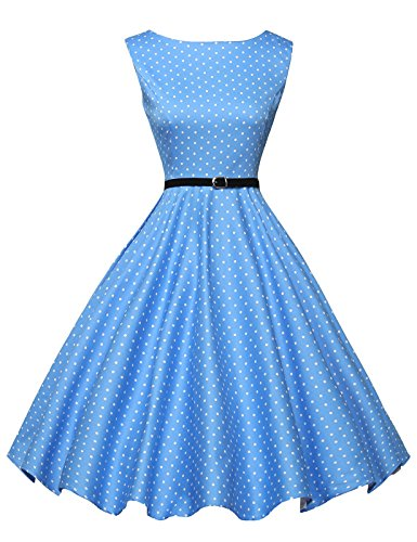 Grace Karin Fashion Sleeveless Boatneck Vintage Tea Dress