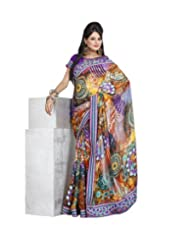 Triveni Fancy Saree With Unstitch Blouse - 11007