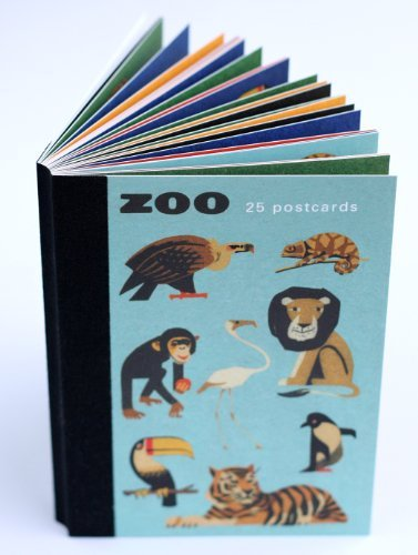Zoo animals postcard book - 25 different postcards
