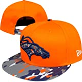 Denver Broncos New Era NFL Camo Break Strapback Hat (Orange) at Amazon.com