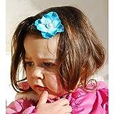 Azul, revestimientos de pelo para bebés y niños de orquídea, color blanco perla