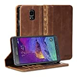 Gmyle Book Case Vintage for Samsung Galaxy Note 4 - Crazy Horse Pattern