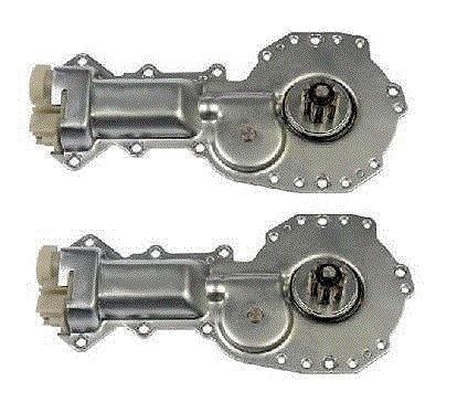 93 - 02 Camaro Firebird Power Window Motor Pair Set Square Plug 9 Tooth Gear