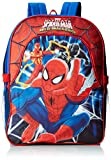 Global Design Concepts Boys' Spiderman Backpack with Lunch Kit, Multi, One Size