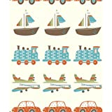 Holden Decor Vroom Vroom Wallpaper Teal Orange 10772
