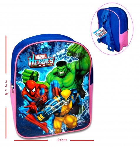 Marvel Heros Spiderman, Wolverine, Hulk Kids Backpack