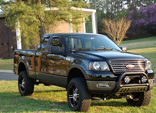 MATTE BLK BULL BAR BUMPER GRILL GRILLE GUARD w/SS Skid 04-14 FORD F150/NAVIGATOR (Bull Guard For Trucks compare prices)
