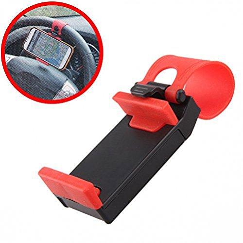 Car Steering Wheel Mount Compact Phone Holder Cradle for Huawei Ascend P6 P7 - Alcatel OneTouch - LG Exceed 2 - Optimus L90, G Pro, Lite, Vista, Samsung Galaxy Alpha, Round - ZTE ZMax, Nubia Z9 (One Direction Samsung Galaxy Lite compare prices)