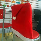 Generic 1pcs Santa Red Hat Chair Covers Christmas Decorations Party Dinner Chair Xmas Cap Sets New Christmas Seat...
