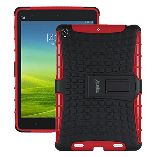 Heartly Flip Kick Stand Spider Hard Dual Rugged Armor Hybrid Bumper Back Case Cover For Xiaomi Miui Mi Pad 7.9 - Hot Red