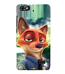EPICCASE Fox police Mobile Back Case Cover For Xiaomi Redmi Mi4c (Designer Case)