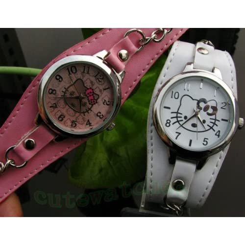 Hello Kitty Leather Wrist Watch (Choice of One)