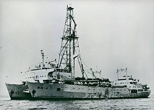 Vintage photo of Image of China's first homemade drilling rig on the ship. (Drilling Ships compare prices)