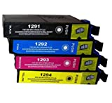 1X T1295 COMPATIBLE INK CARTRIDGES TO REPLACE Epson Stylus Office SX235W PRINTER - HIGH CAPACITY - LATEST CHIP - Pack Replaces (T1291/ Black , T1292 / Cyan, T1293/ Magenta , T1294/ Yellow) - 100% GUARANTEED TO WORK IN EXACTLY THE SAME WAY AS THE ORIGINAL