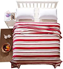 CASA Blanket series Red Stripe coral velvet blankets
